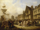 The Old Quayside, Newcastle, 1838 Giclee Print by Henry Perlee Parker
