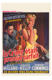 Dial M For Murder, Belgian Movie Poster, 1954 Posters