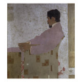 Portrait of the Artist Anton Peschka Giclee Print by Egon Schiele