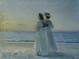 Two Women on the Beach at Skagen, 1908 Gicléetryck av Michael Peter Ancher