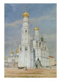 Moscow: The Bell Tower of Ivan the Great in the Kremlin, 1897 Print by Tristram Ellis