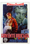 Rebel Without a Cause, Italian Movie Poster, 1955 Julisteet