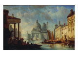 A Capriccio View of Venice, 1858 Giclee Print by Alexandre Defaux