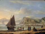 A View of Ness Point - Teignmouth, Devon, 1826 Giclée-tryk af Thomas Luny
