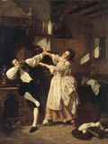 Flirtation in the Kitchen, 1877 Giclee Print by Charles Desire Hue