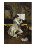 The Flute Player Giclee Print by Charles Bargue