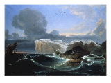 Stormy Seas by the Cliffs, 1845 Art by Peder Balke