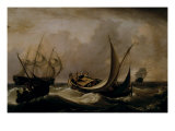 Dutch Shipping in a Stiff Breeze, 1815 Giclee Print by Charles Martin Powell