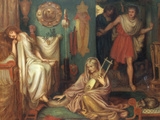 The Return of Tibullus to Delia, 1868 Giclee Print by Dante Gabriel Rossetti