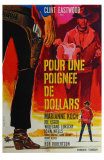 A Fistful of Dollars, French Movie Poster, 1964 Print