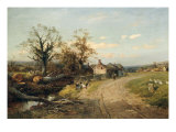 The Edge of the Common, 1883 Giclee Print by David Bates