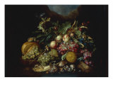A Still Life of Fruit on a Ledge, probably 1667 Giclee Print by Cornelis De Heem