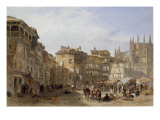 The Town Square, Segovia, Spain, 1856 Giclee Print by Edward Angelo Goodall