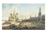 The Red Square, Moscow Giclee Print by Johann Ludwig Bleuler