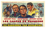The Guns of Navarone, Belgian Movie Poster, 1961 Prints