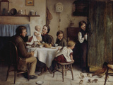 Crumbs from a Poor Man&#39;s Table, 1868 Giclee Print by Joseph Clark