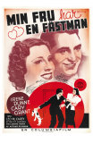 The Awful Truth, Swedish Movie Poster, 1937 Affiches