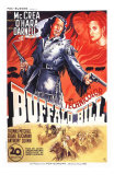 Buffalo Bill, French Movie Poster, 1944 Láminas