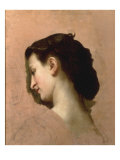 Sketch of a Young Girl's Head Prints by William Adolphe Bouguereau