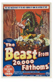 The Beast From 20,000 Fathoms, Australian Movie Poster, 1953 Kunstdrucke