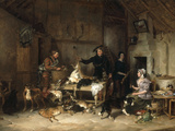 The Highland Gamekeeper&#39;s Home, 1839 Giclee Print by Thomas Sidney Cooper