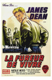 Rebel Without a Cause, French Movie Poster, 1955 Affischer