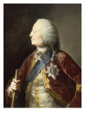 Portrait of King George II (1683-1760) Giclee Print by Thomas Worlidge