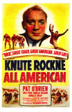 Knute Rockne All American, 1940 Print