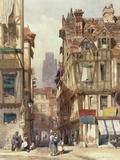 Street Scene in Rouen Giclee Print by Thomas Shotter Boys