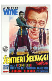 The Searchers, Italian Movie Poster, 1956 Print