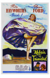 Affair in Trinidad, Australian Movie Poster, 1952 Print
