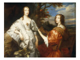 Portrait of Katherine, Countess of Chesterfield and Lucy, Countess of Huntingdon Poster von Anthony Van Dyck
