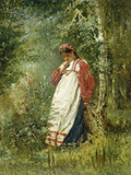 Young Girl in the Wood, 1874 Giclee Print by Vladimir Egorovic Makovsky