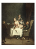 A Family Meal Print by Pietro Longhi
