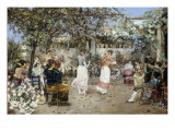 A Fiesta on a Sevillan Terrace, 1891 Giclee Print by Jose Gallegos Y Arnosa