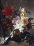 Still Life with Roses and Tulips, 1849 Giclee Print by Theude Groenland