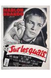 On the Waterfront, French Movie Poster, 1954 Photo