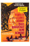 Bridge on the River Kwai, German Movie Poster, 1958 Affischer