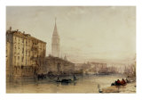 On the Grand Canal, Venice - An Evening View Posters by William Callow