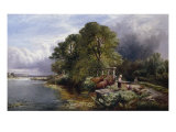 The Eel Traps on the Kennet - After a Shower Giclee Print by Henry John Boddington
