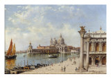 A View of the Piazzetta and Santa Maria della Salute, Venice Posters by Antonietta Brandeis