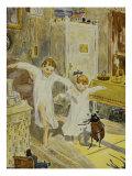 Summ! - dann kommt das Fluegelein, Illustration, 1928 Giclee Print by Hans Baluschek