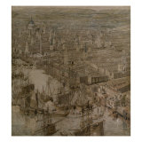 The Rhinebeck Panorama of London (St. Pauls Cathedral) Giclee Print