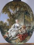 Le Joueur De Flageolet, 1766 Posters by Francois Boucber