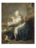A Kitchen Maid Preparing her Accounts Giclee Print by Jean-Baptiste Charpentier