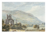Llanthony Abbey, Monmouthshire Art by Paul Sandby