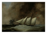 The Esmeralda under Full Sail, 1846 Giclee Print by Nicholas Matthew Condy