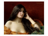Portrait of a Young Woman Giclee Print by Jules Frederic Ballavoine