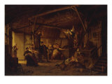 The Party in the Barn, 1870 Giclee Print by David Col