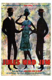 Jules and Jim, German Movie Poster, 1961 Print
